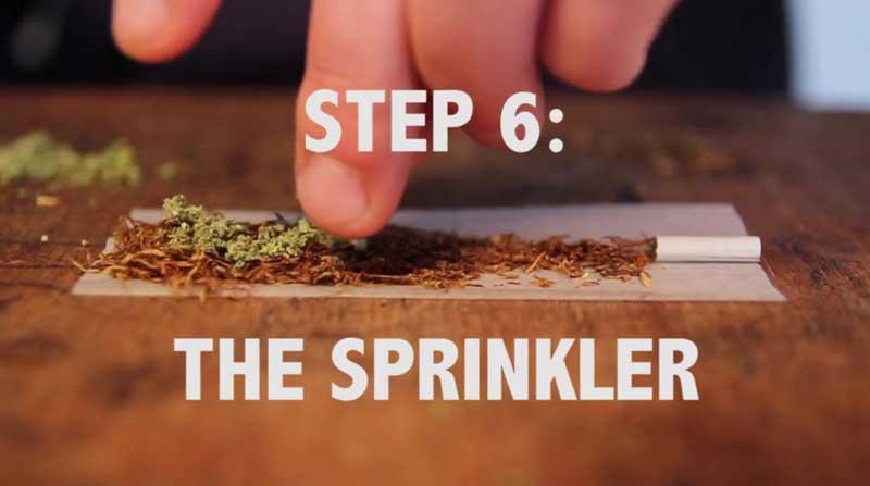 Step 6 the sprinkler to roll a Spliff