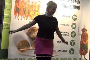 Spliff Cannabis Seeds @ Cannafest Prague 2013 – Da Hoola Hoop Queen