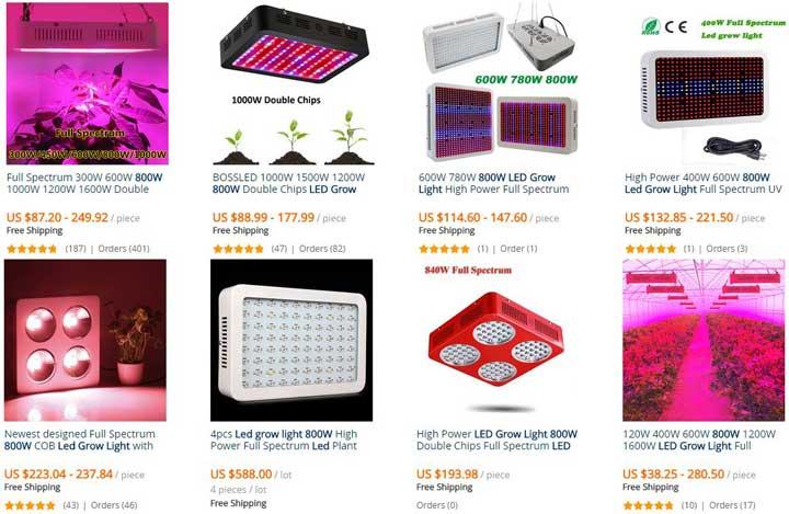 Voorbeelden Goedkopere Kweeklampen