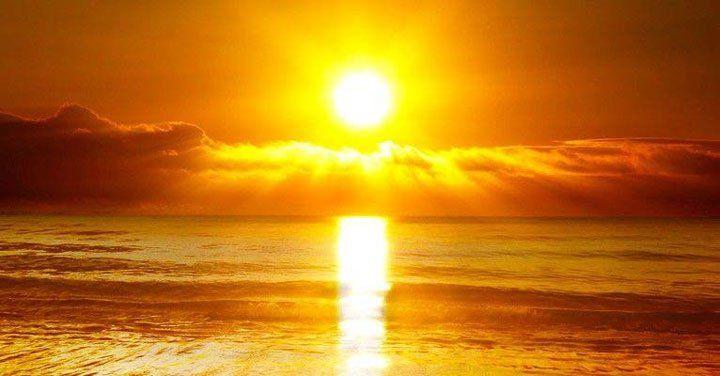 foto van de zon